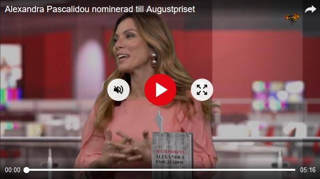 Alexandra Pascalidou nominerad till Augustpriset, Expressen Kultur 23 okt 2018