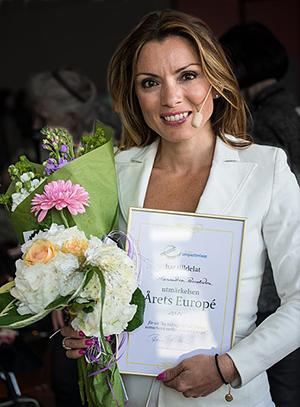 Utmärkelsen Årets Europé tilldelades Alexandra Pascalidou 2015