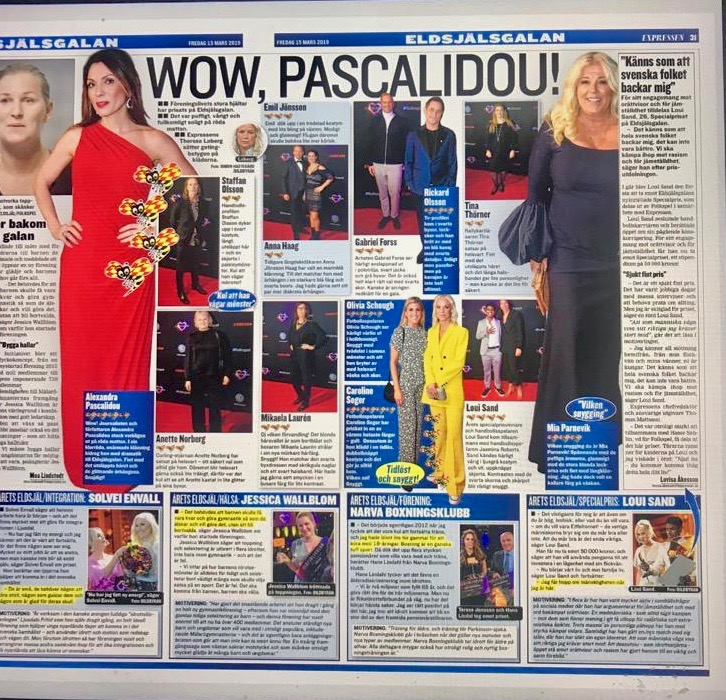 Alexandra Pascalidou på Eldsjälsgalan